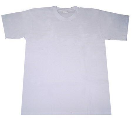 เสื้อยืด T-Shirt เนื้อผ้าโพลีเอสเตอร์ สีขาว สำหรับเด็ก