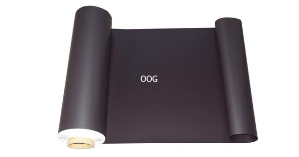 ยางผสมผงเหล็ก ใช้สำหรับติดด้วยแม่เหล็ก ผิวหน้าสี หนา 0.7มม. กว้าง 62 ซม.