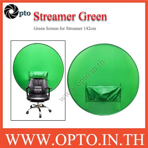 Pop Up Green Screen 142 cm พื้นหลังทรงกลมสีเขียวสําหรับถ่ายภาพเก้าอี้สตูดิโอ