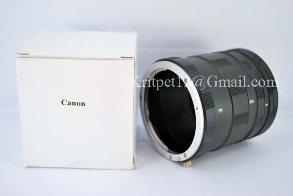 3 Ring Macro Extension Tube for Canon Len