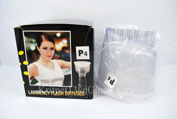 Lambency Clear Flash Diffuser with white Dome For 550EX 580EX SB-900 (P4)