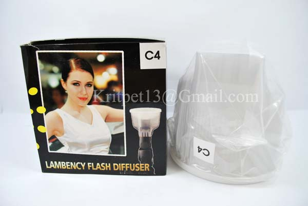 Lambency Cloud Flash Diffuser with white Dome For 550EX 580EX SB-900 (C4)