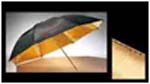 Gold Reflector Umbrella (Gold inside black outside) 101cm (40inc.)