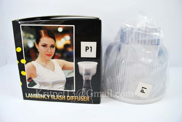 Lambency Clear Flash Diffuser with white Dome For SB26/27/28 EF500 (P3)