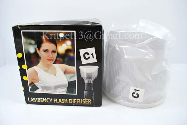 Lambency Cloud Flash Diffuser with white Dome For SB26/27/28 EF500 (C3)