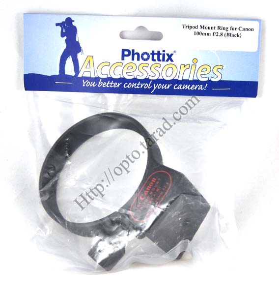 Collar Tripod Mount Ring for Canon 100mm f/2.8 (Black)