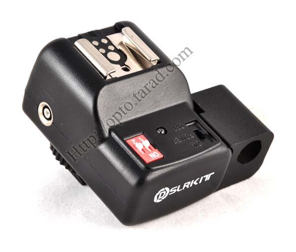 Wireless Flash Trigger PT-04NE set with Umbrella Holder 1 Receiver 1