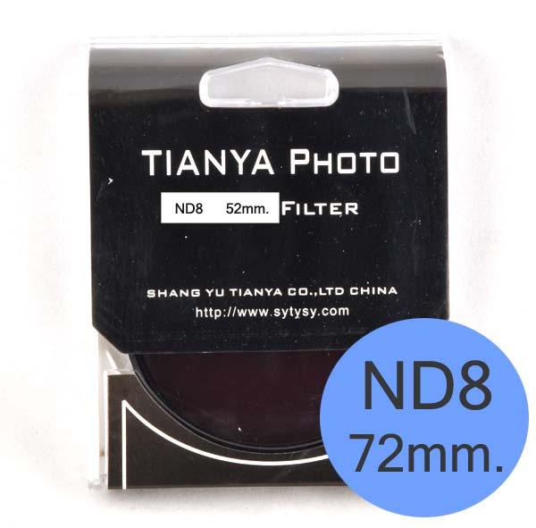 TIANYA Neutral Density ND 8 ND8 Filter 72mm.