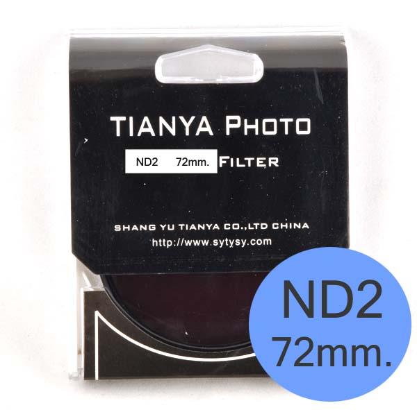 TIANYA Neutral Density ND 2 ND2 Filter 72mm.
