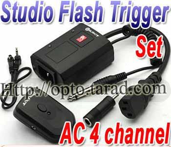 Wireless Flash Trigger AC-04A Studio AC Supply set 2 Receiver