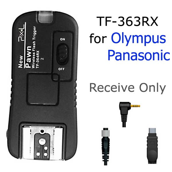 Receive Only TF-364RX Flash Trigger and Wireless Remote For Olympus Panasonic O6 O8 P6