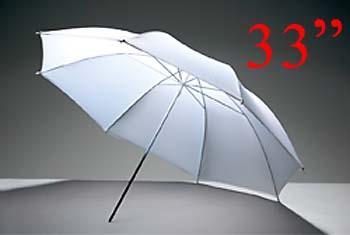 White Photo Studio Diffuser Umbrella 84cm (33Inch) ร่มทะลุสีขาว