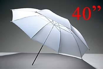 White Photo Studio Diffuser Umbrella 101cm (40inch) ร่มทะลุสีขาว