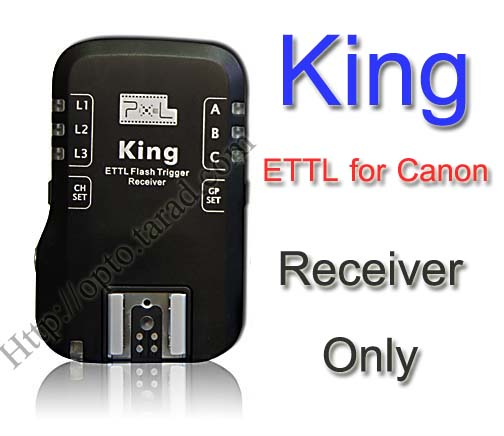King for Canon Auto E-TTL II Flash Trigger Receiver Only