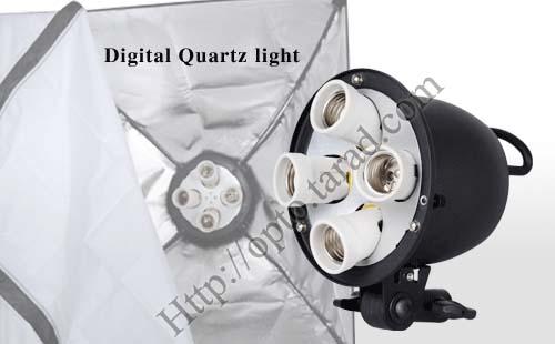 G804A Digital Day light Lamp E27 Bulb x4 Holder With Softbox 60x60cm