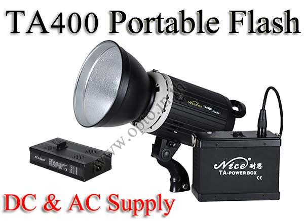 TA400 Portable Double Power Studio Strobe Flash Light 400Ws