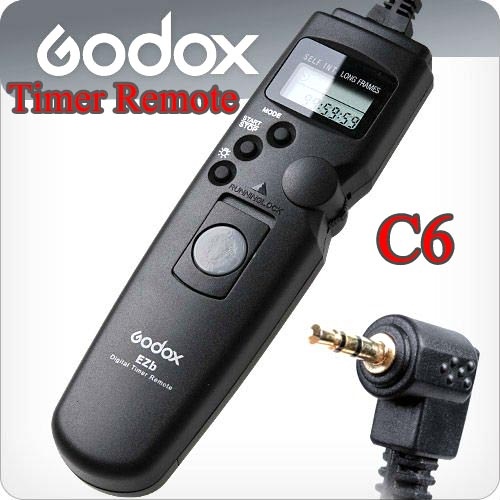 Godox Timer Remote Control C6 For Canon 60D/650D/500D/400D (TC-80N3)