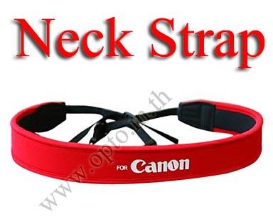Canon Red Neck Starp Neoprene for DSLR สายคล้องคอกล้องสำหรับแคนน่อน
