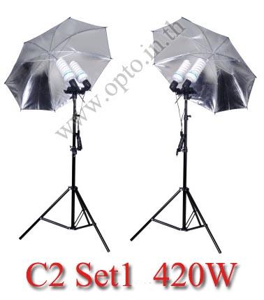C2 Set1 420W Fluorescent Light Kit