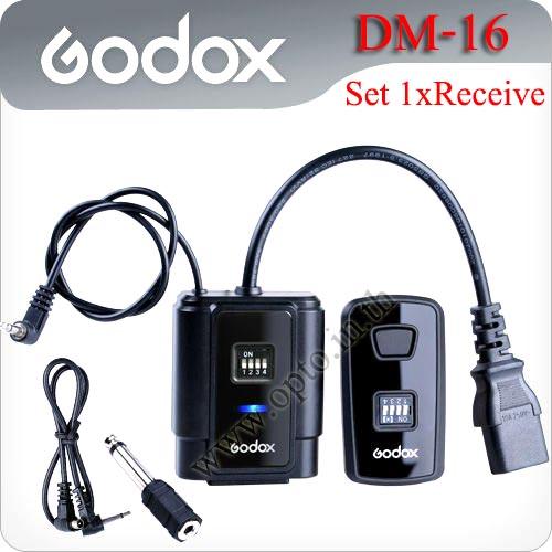 AC Supply Wireless Flash Trigger DM-16 set 1 Receiver