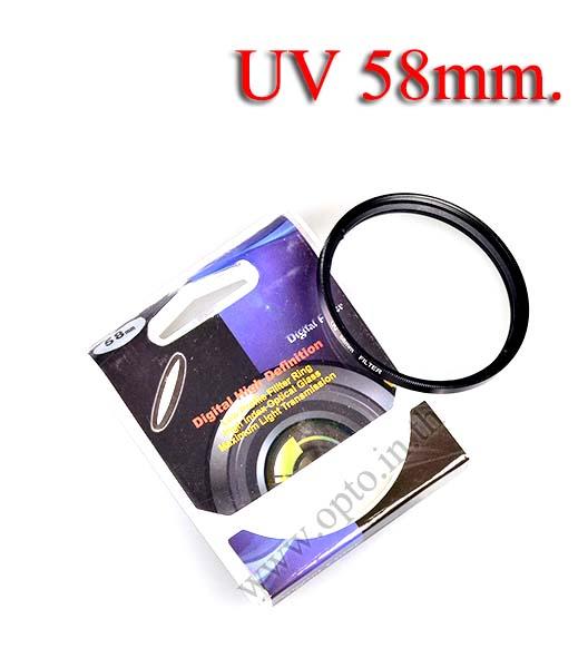Digital Filter 58mm. UV Filter