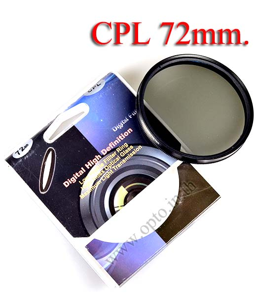 Digital Filter 72mm. CPL Circular Polarizing C-PL