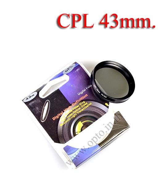 Digital Filter 43mm. CPL Circular Polarizing C-PL