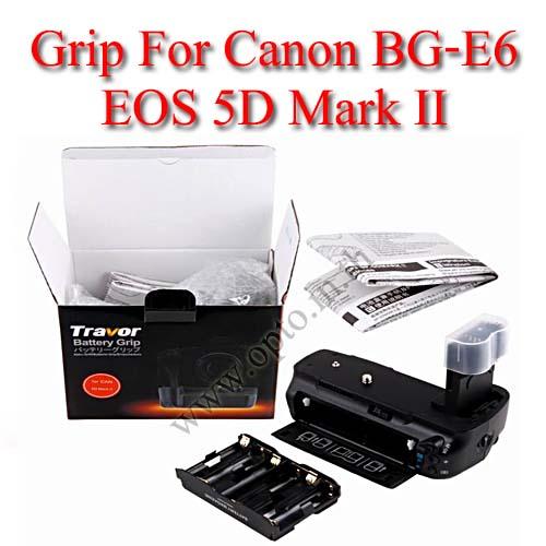 Travor แบตเตอรี่กริ๊ป BG-1D Battery Grip for Canon BG-E6 5D MKII