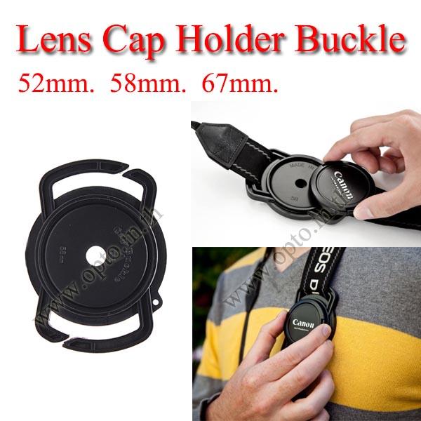 52mm 58mm 67mm Lens Cap Holder Buckle for Nikon Canon