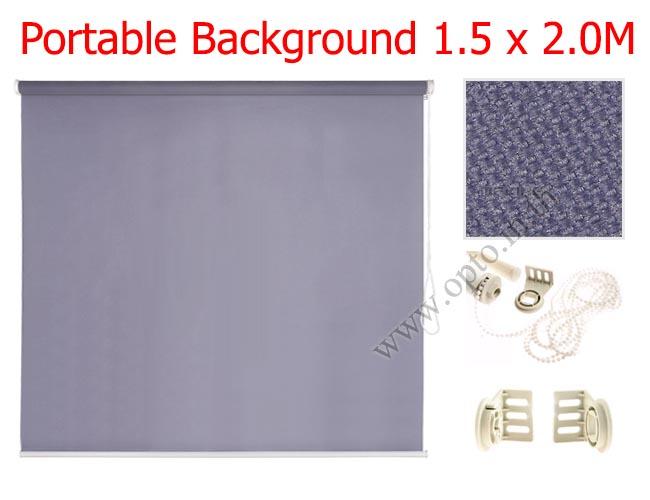ฉากผ้าแบบติดผนังสีเทาดำ 150x200cm. มาพร้อมขายึด+โซ่ม้วนผ้า(สามารถใช้งานได้ทันที)