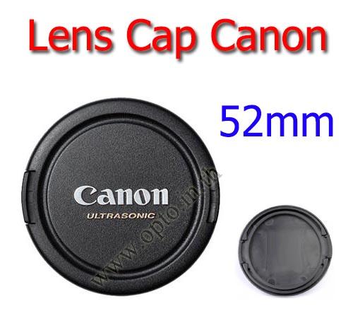 52mm. ฝาปิดหน้าเลนส์สำหรับกล้อง Canon