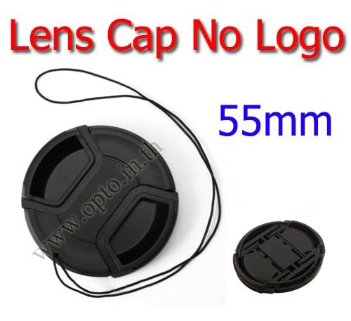 55mm. ฝาปิดหน้าเลนส์ไม่มีโลโก้สำหรับกล้อง Canon Nikon Sony Sigma Tamron