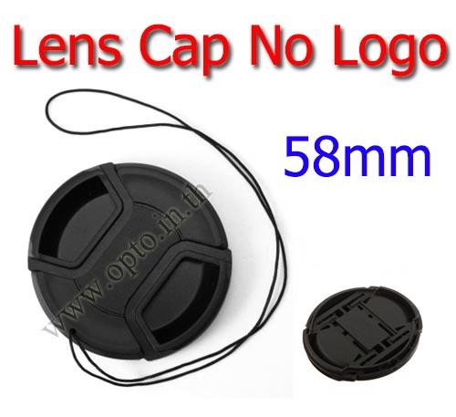 58mm. ฝาปิดหน้าเลนส์ไม่มีโลโก้สำหรับกล้อง Canon Nikon Sony Sigma Tamron
