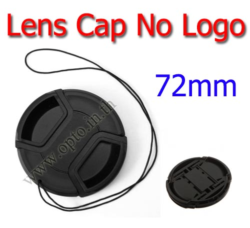 72mm. ฝาปิดหน้าเลนส์ไม่มีโลโก้สำหรับกล้อง Canon Nikon Sony Sigma Tamron