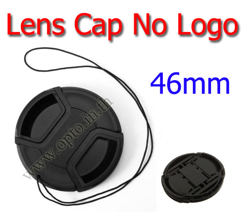 46mm. ฝาปิดหน้าเลนส์ไม่มีโลโก้สำหรับกล้อง Canon Nikon Sony Sigma Tamron