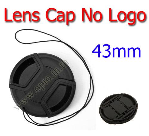 43mm. ฝาปิดหน้าเลนส์ไม่มีโลโก้สำหรับกล้อง Canon Nikon Sony Sigma Tamron
