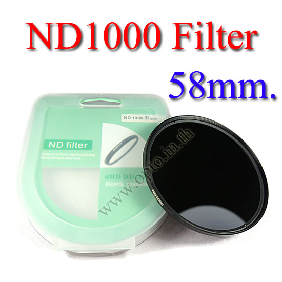 Neutral Density ND 1000 (10 Stop ND) ND1000 Filter 58mm.