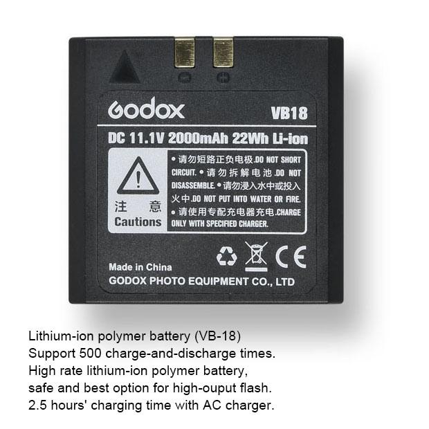 VB-18 Battery for V850 V860 II Kit Speedlight แบตเตอรี่แฟลช Godox