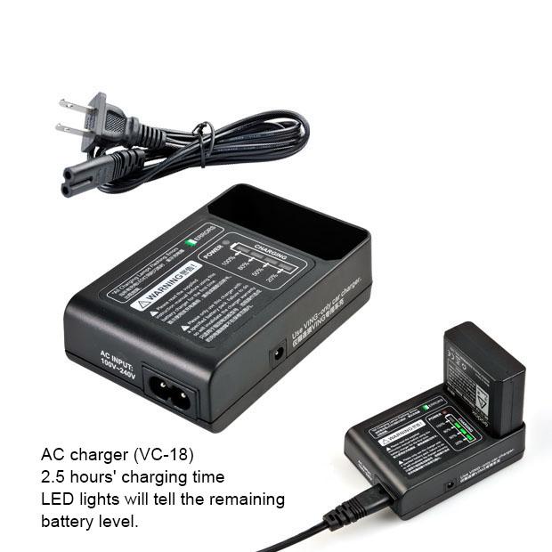 VC-18 Battery Charger for V850 Kit Speedlight ที่ชาร์ตแบตเตอรี่แฟลช Godox