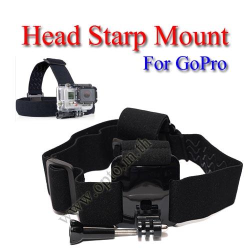 Head Starp Mount for GoPro Hero3+ 2 1 Accessories  Camera สายยึดหัวหรือหมวกกันน็อคสำหรับกล้องโกโปร