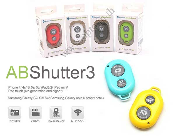 Bluetooth Remote Shutter for iPhone4 iPhone5 iPhone5s Android รีโมทบลูทูธสำหรับมือถือ