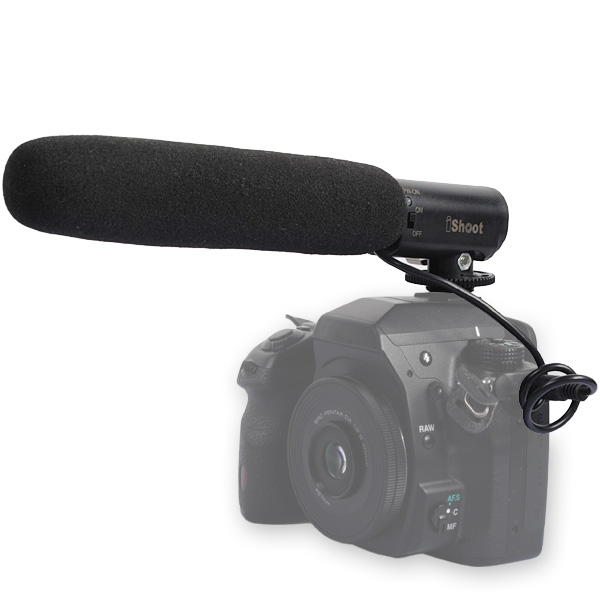 PL-MIC01 Stereo Microphone For DSLR Camera DV Camcorder ไมค์สำหรับกล้องDSLR