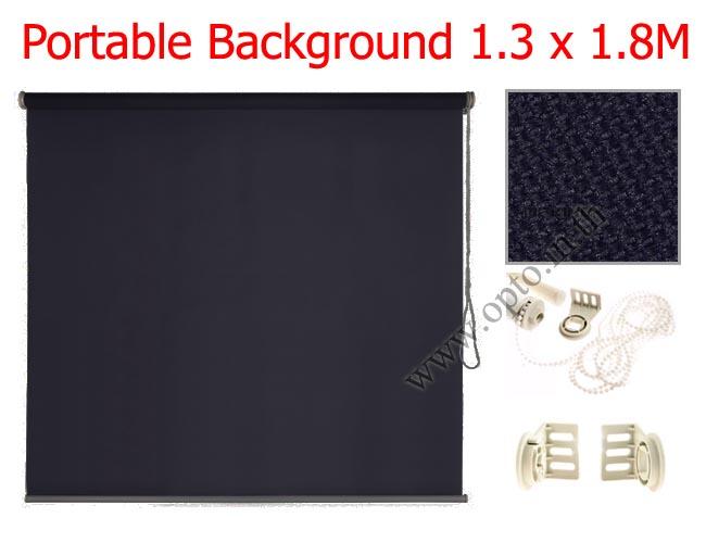 ฉากผ้าแบบติดผนังสีดำ 130x180cm. มาพร้อมขายึด+โซ่ม้วนผ้า(สามารถใช้งานได้ทันที)