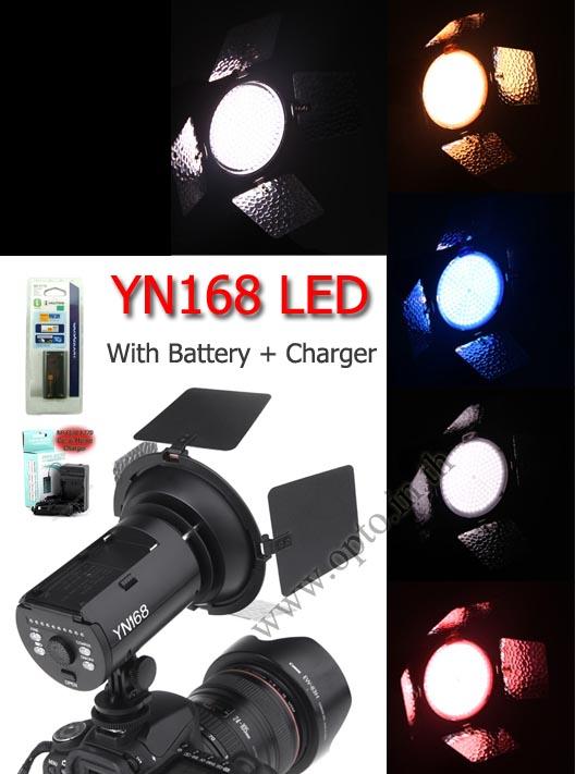YN168 YongNuo LED Video Light + Battery F770 + Charger ไฟต่อเนื่องสำหรับถ่ายภาพและวีดีโอ