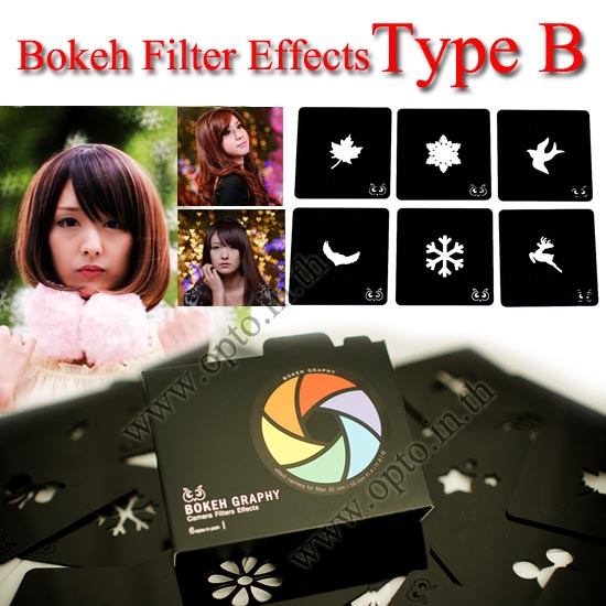 Type B Bokeh Graphy Camera Filters Effects For Cokin P Series แผ่นโบเก้