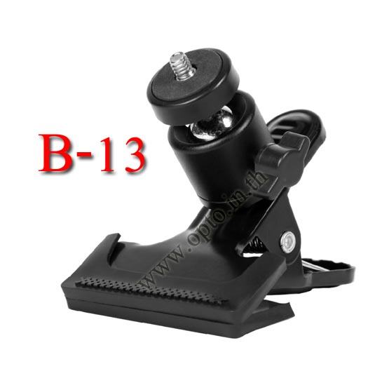 Background clamp with Ball Head Camera Stand for size 13-38mm. (B-13)