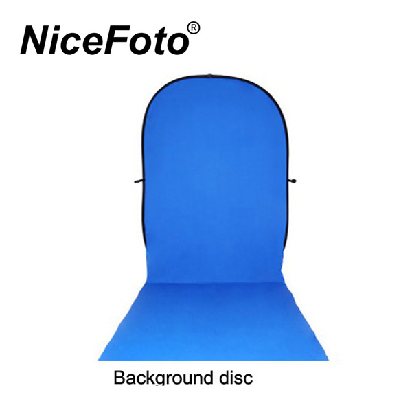 Collapsible Background disc 150x200+200cm. Blue and Green