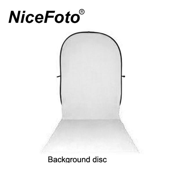 Collapsible Background disc 150x200+200cm. Black and White
