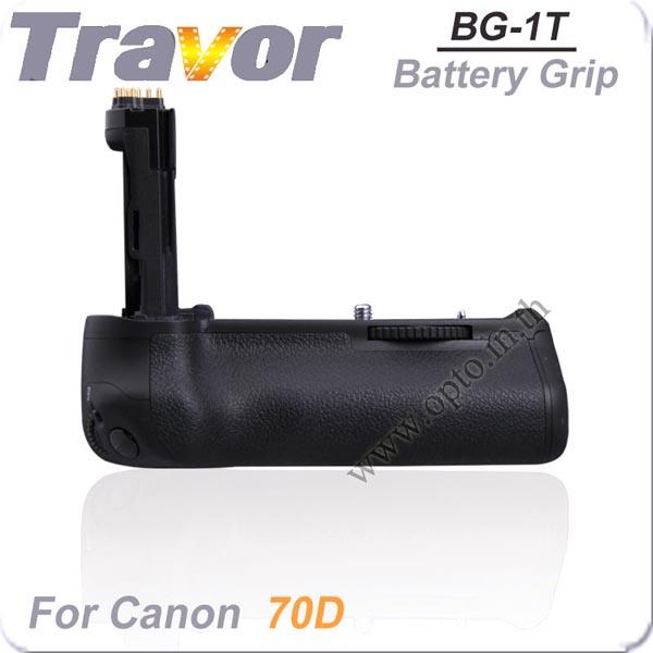 Travor แบตเตอรี่กริ๊ป BG-1T Battery Grip for Canon BG-E14 80D 70D