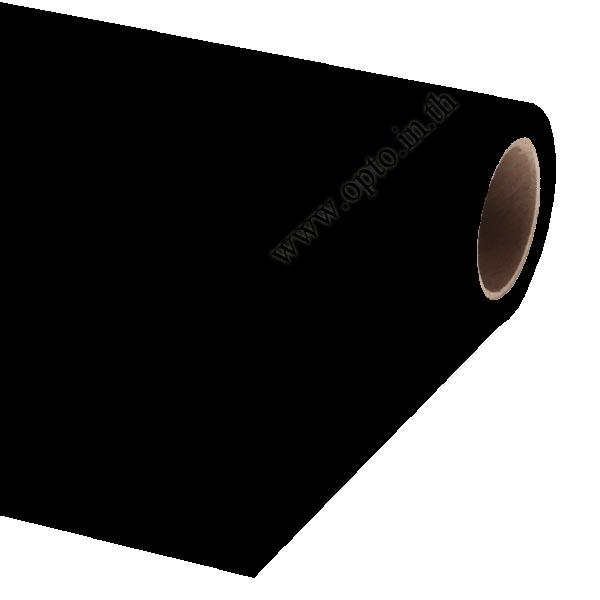 Black Paper Background Backdrop 2.72x11m. for Chromakey ฉากกระดาษสีดำ Seamless Paper